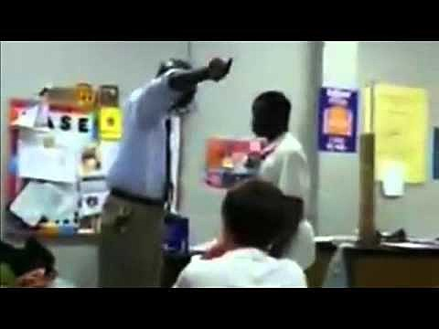 teacher stops fight