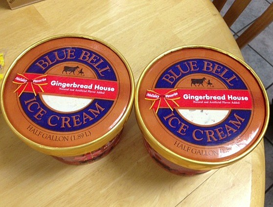 Blue Bell Gingerbread House half gallon