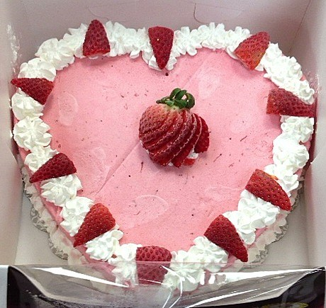 Marble slab heart cake two