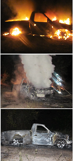 LPD burned truck 3 pics