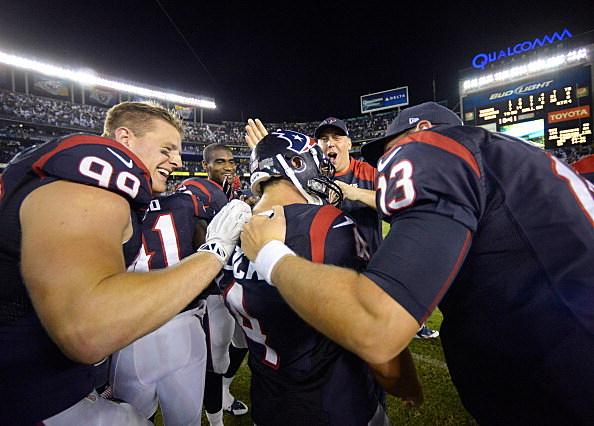 Houston celebrates win