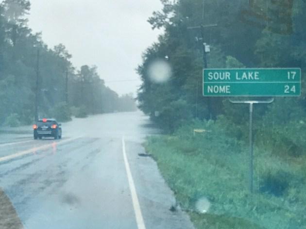 Highway 326 just west of Kountze